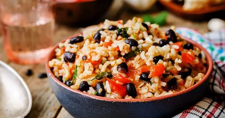 mexican-tomato-black-beans-rice-cilantro