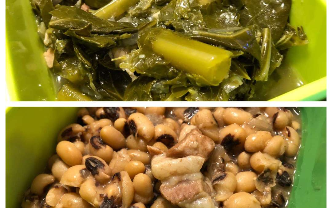 Instant Pot Black-Eyed Peas and Collard Greens
