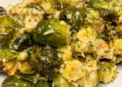 Instant Pot or Ninja Foodi Lemon Parmesan Brussels Sprouts