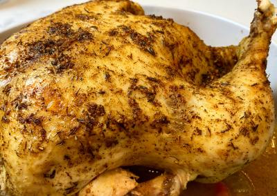 Instant Pot Whole Chicken + Gravy (with Air Fryer Lid)