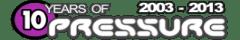 Pressure Radio 10 years compact logo