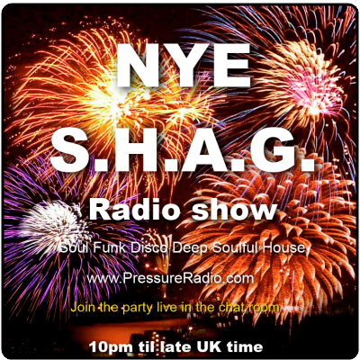 new years eve online radio party flyer