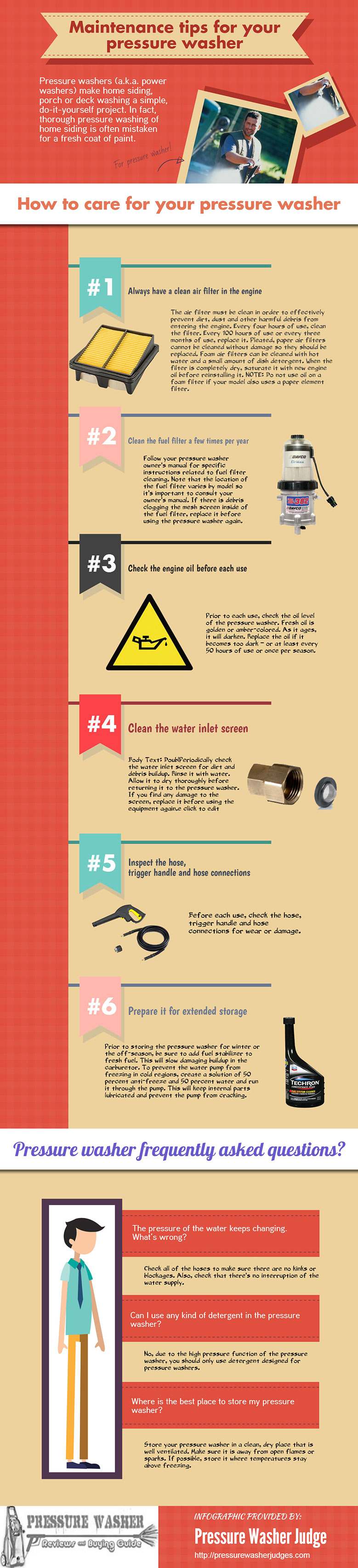 Infographic for - Maintenance Tips for Your Pressure Washer