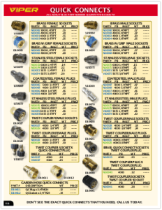 2019 Pressure Zone Parts 20 Quick Connects