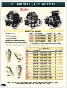 2019 Pressure Zone Parts 29 Oil Burners
