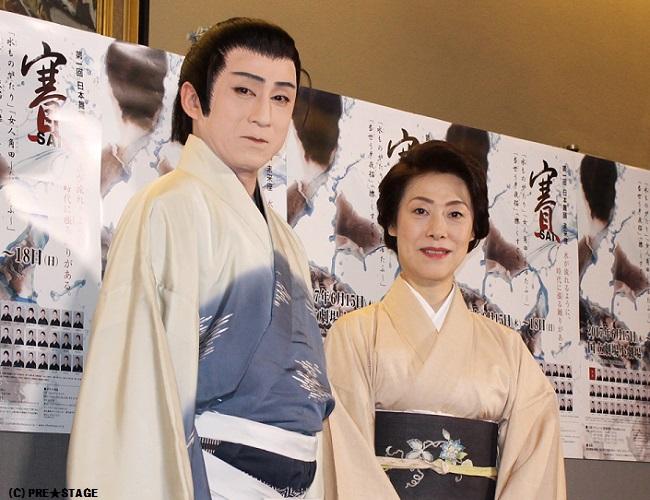 第一回 日本舞踊 未来座「賽=SAI=」公開舞台稽古囲み取材に、松本錦 ...