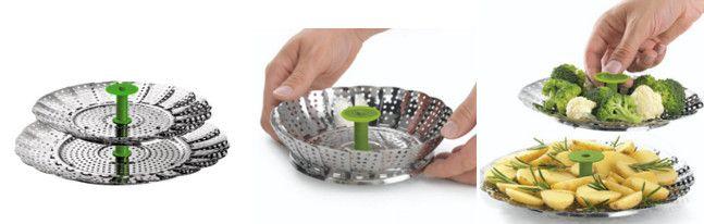 Kuhn Rikon 2025 - Rejilla para cocinar al vapor flexible