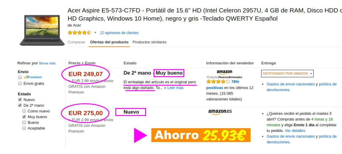 Productos reacondicionados de Amazon: claves para ahorrar