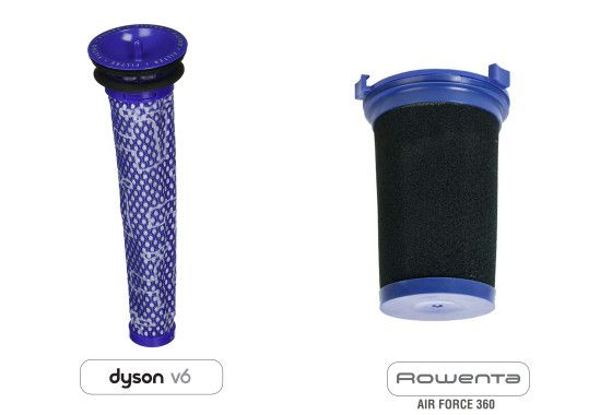 dyson v6 vs rowenta 360 comparativa-filtros