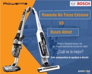 Rowenta air force extreme vs Bosch Athlet comparativa aspiradoras escoba