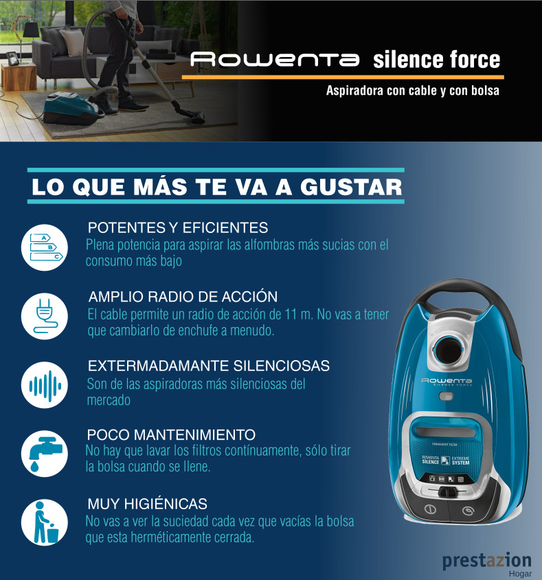 Rowenta Silence Force - compact- ventajas