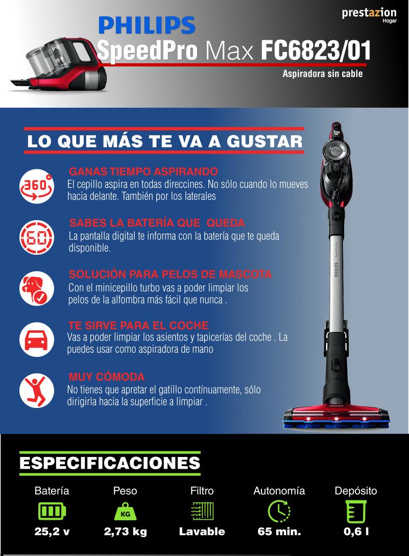 SpeedPro Max Aspirador de escoba FC6823-01 | Philips