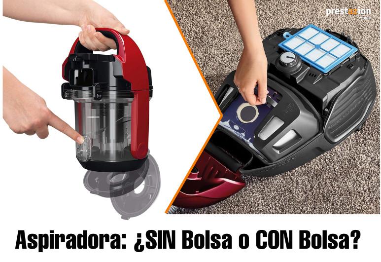 comprar aspiradora con bolsa o sin bolsa