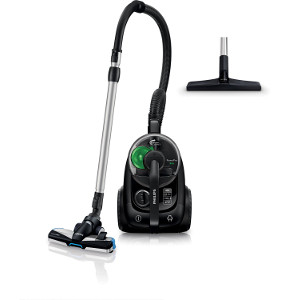Philips PowerPro FC8769-91 - Aspiradora (650 W, cilíndrica, sin bolsa, 2 L, Negro, Verde, Caucho, filtro HEPA 12) color negro [Clase de eficiencia energética A]
