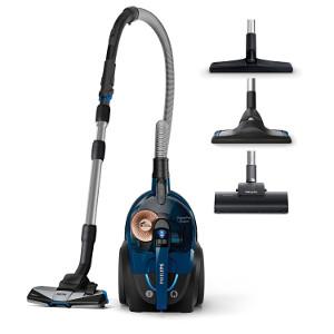 Philips fc9745-09 Power Pro Expert – Aspiradora sin bolsa, boquilla extra pelo de animales, 2 L, 650 W, color azul
