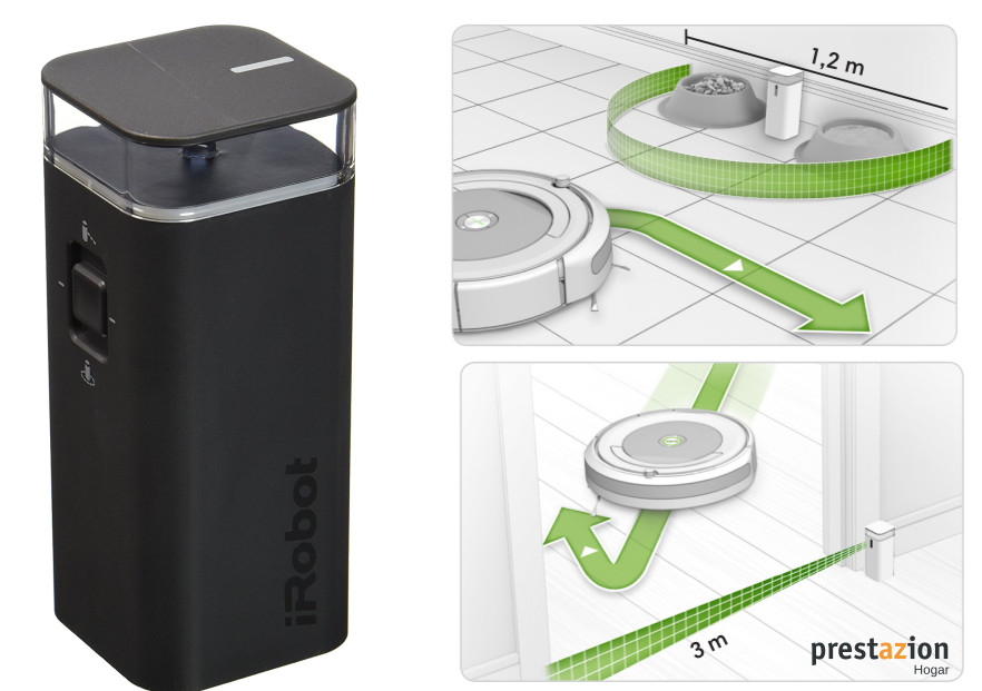 Romba 600 comparativa virtual wall dual