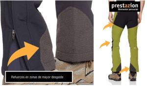 pantalones de montaña resitencia abrasion