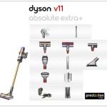 aspiradoras dyson v11 extra absolute plus con accesorios