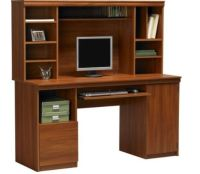 Corner Study Table With Bookshelf
