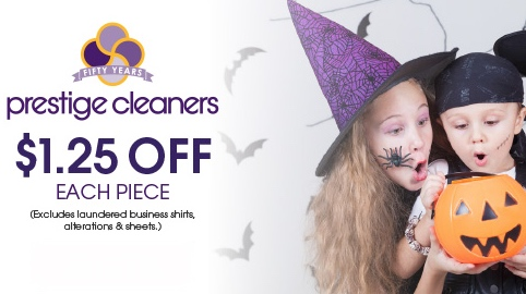 A Sweet October Treat––$1.25 OFF per dry cleaning item