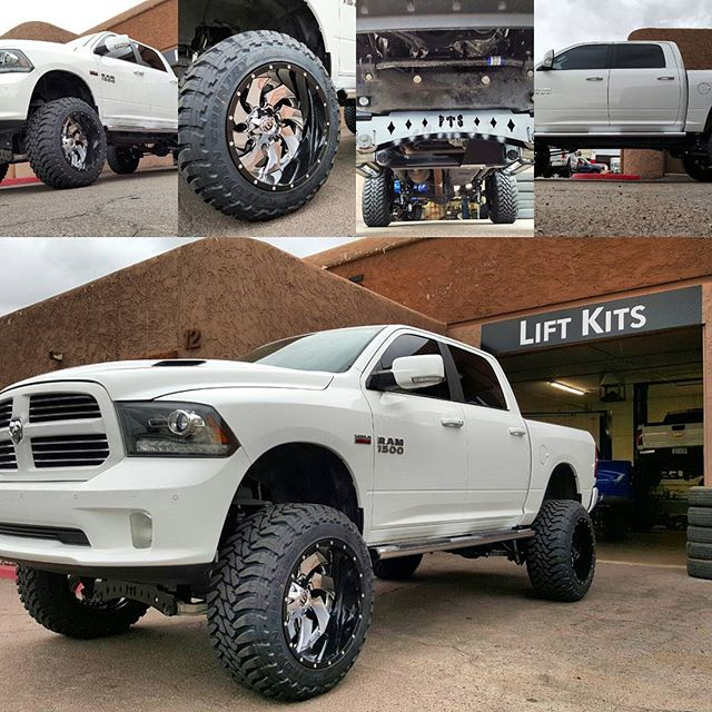 White Lifted Ram at Prestige Custom Rides