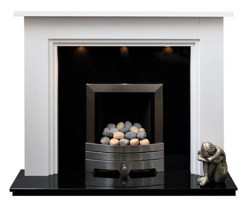 Maple Fireplace Mantel Shelf The Nottingham White Fireplace | Prestige Fireplaces