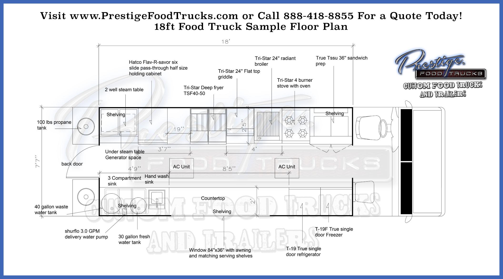 Custom Food Truck Floor Plan Samples  Prestige Custom