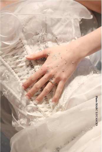 Lolita C. Robe de mariée.Couture sur mesure. Atelier Prestige a Merignac