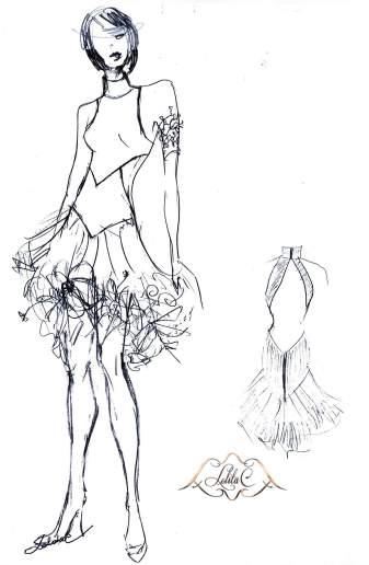 Robe Flora belle robe Bordeaux
