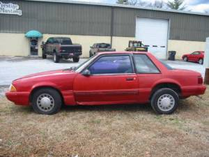 1990 Ford Mustang 4Cyl Automatic  Red