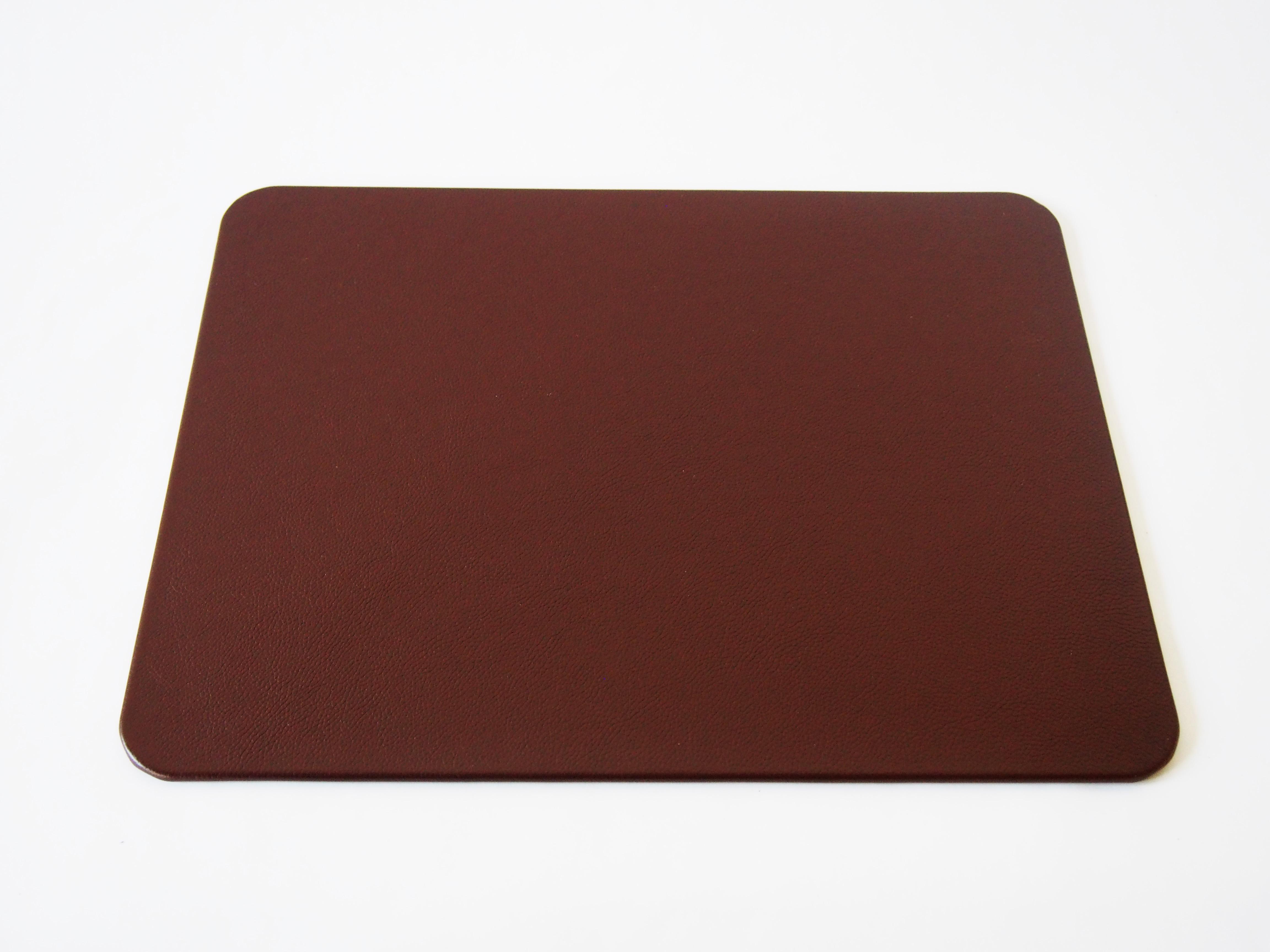 Brown Leather Desk Pad Genuine TopGrain Leather