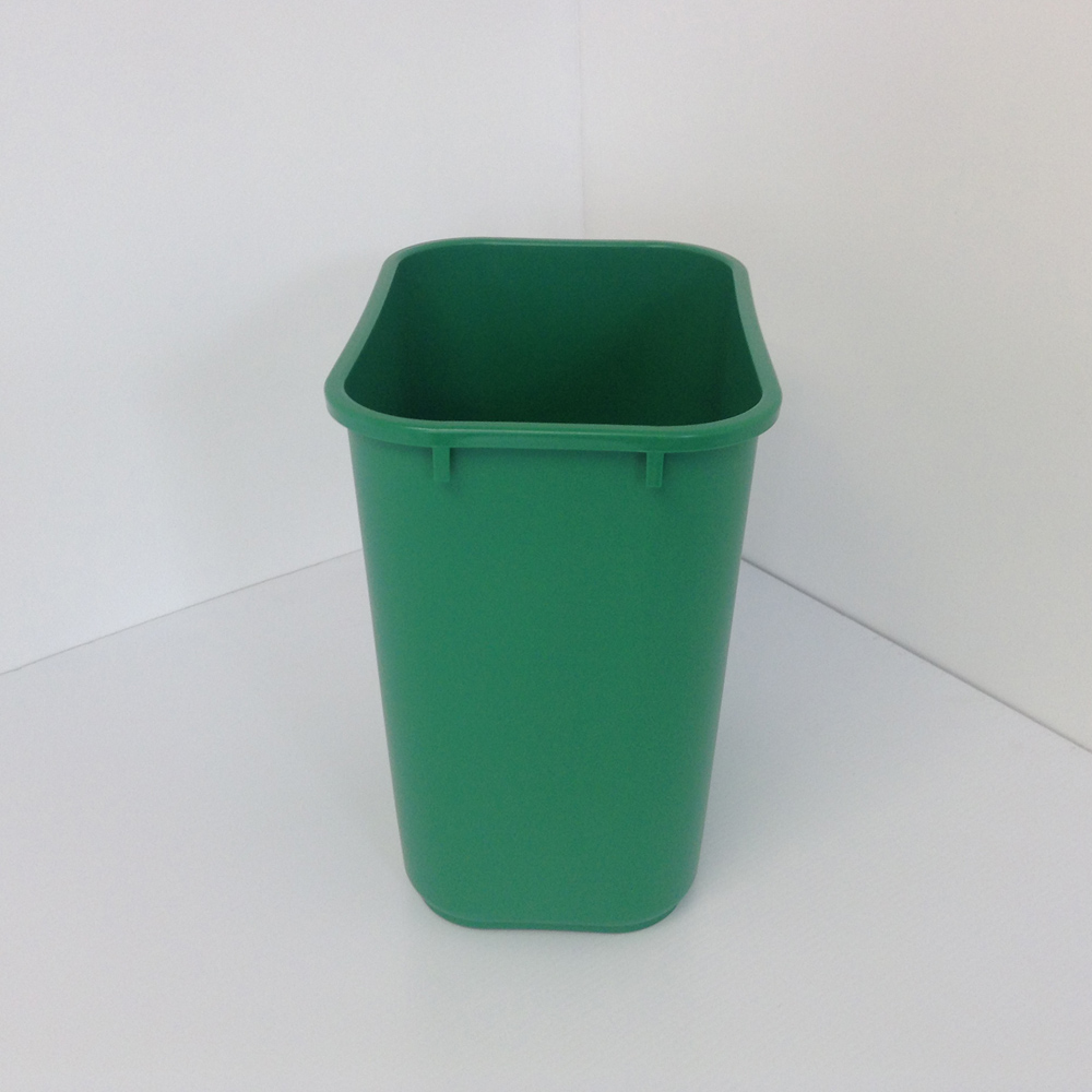 Green Plastic Recycling Bin Wastebasket  Prestige Office