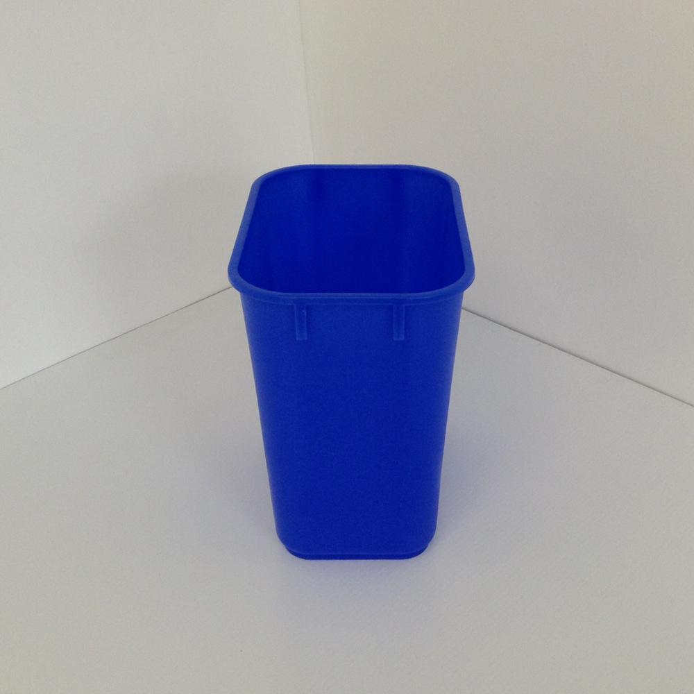Small Blue Recycling Bin Soft Plastic  Prestige Office Accessories