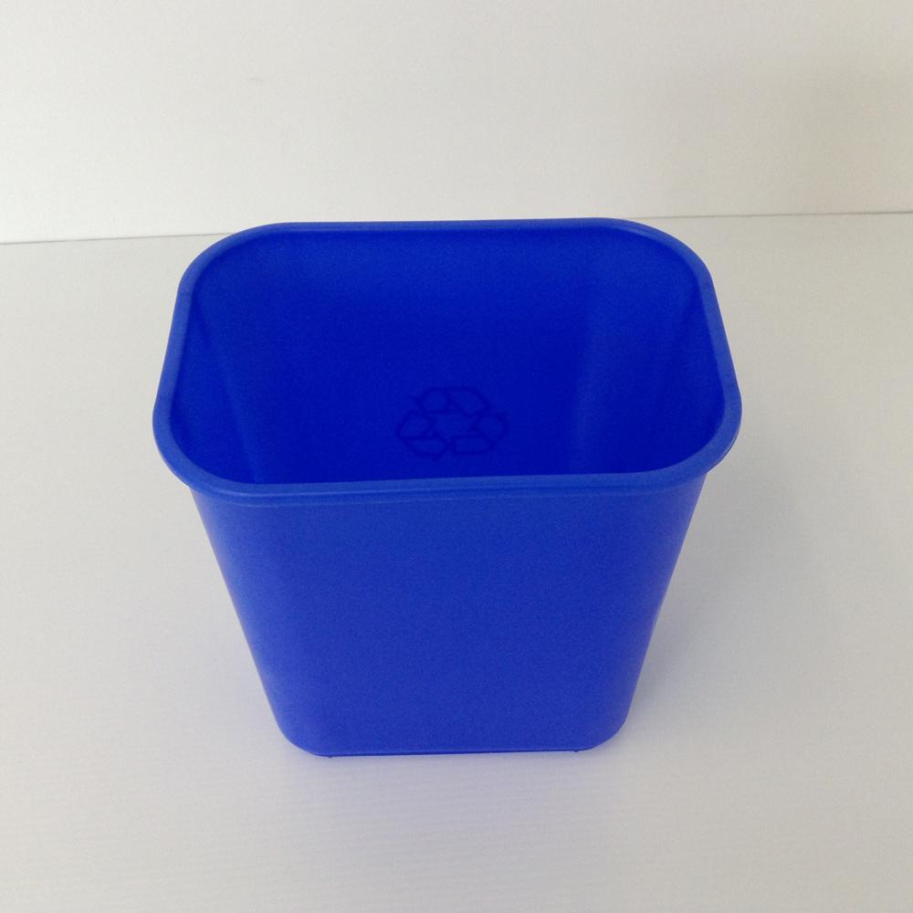 Small Blue Recycling Bin Soft Plastic  Prestige Office