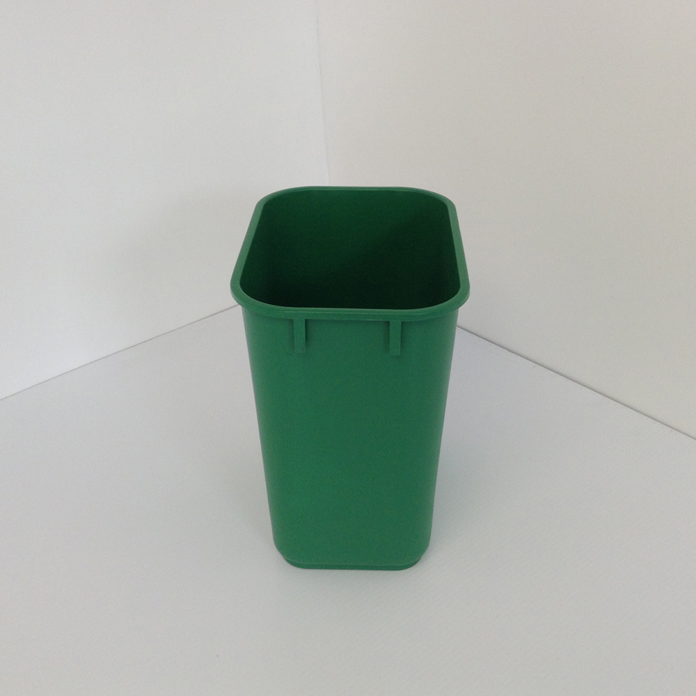 Small Green Office Recycling Bin  Soft Plastic  Prestige