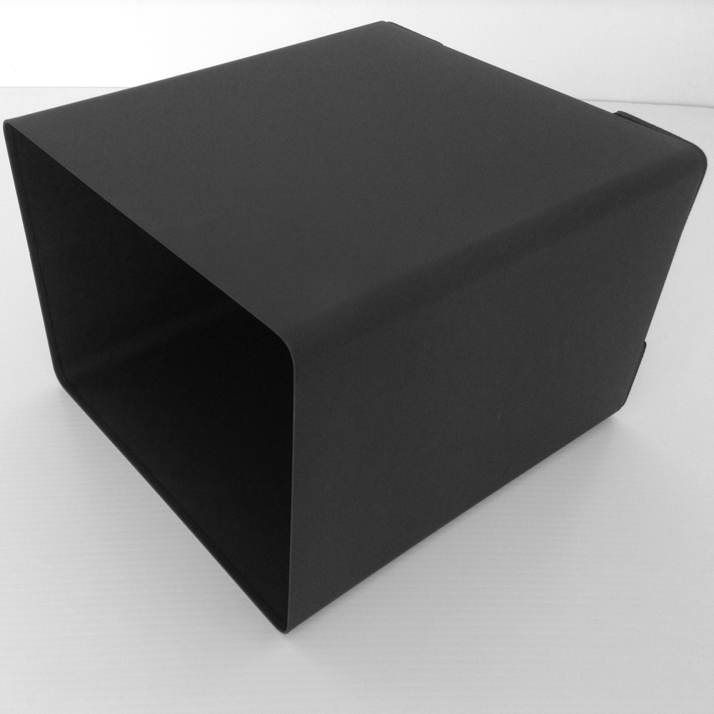 Matte Black Metal Wastebasket Trash Can  Office Supplies