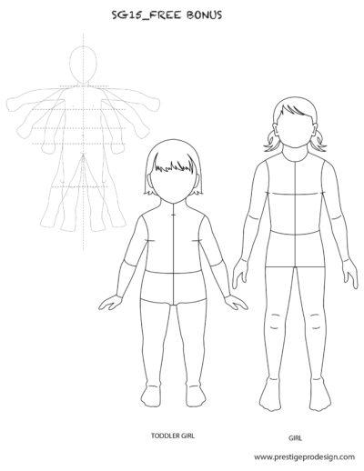Flat Fashion Sketches, Fashion Templates in Illustrator