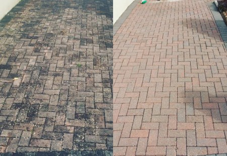 Block Paving Cleaning Example