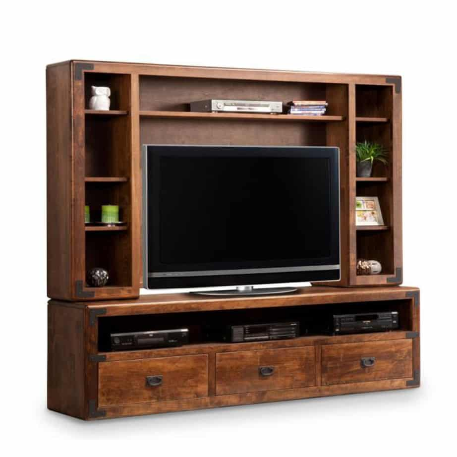cheap wall units for living room upholstered benches saratoga 84 unit home envy furnishings solid wood furniture