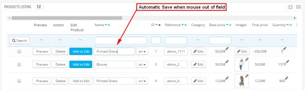 Prestashop Complete Quickly Edit Bulk/Mass Products Module - 1