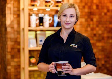 Małgorzata Dziadyk, menedżer koszalińskiej kawiarni So! Coffee