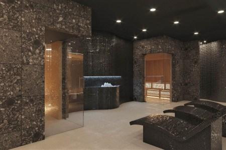 Miejsce wyciszenia w strefie saun