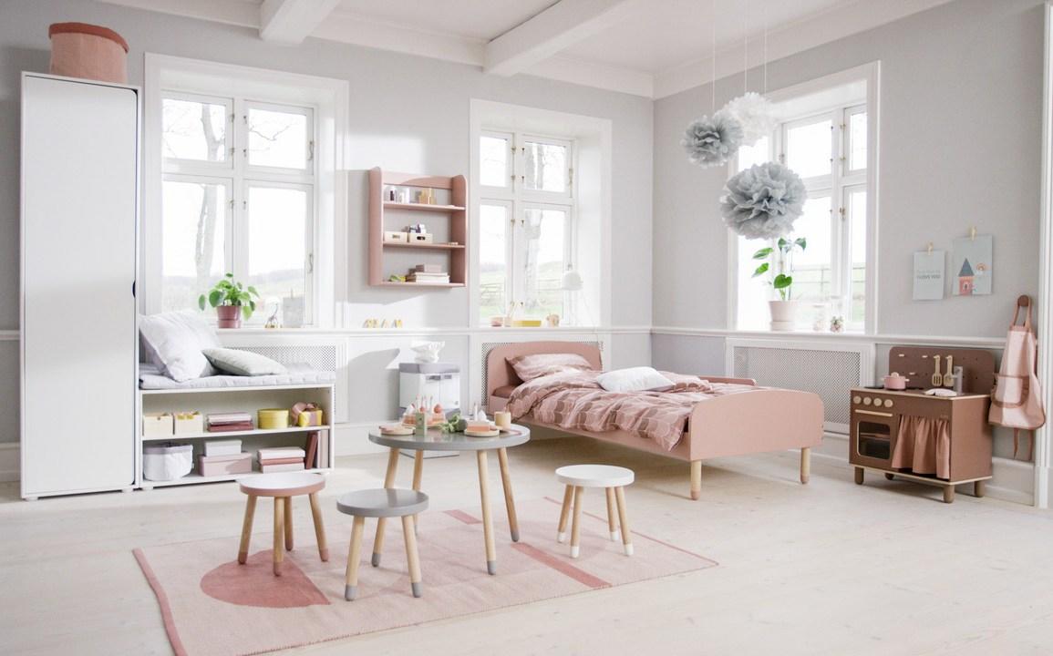 Domoteka FLEXA Kolekcja DOTS lozko stolik taborety Design