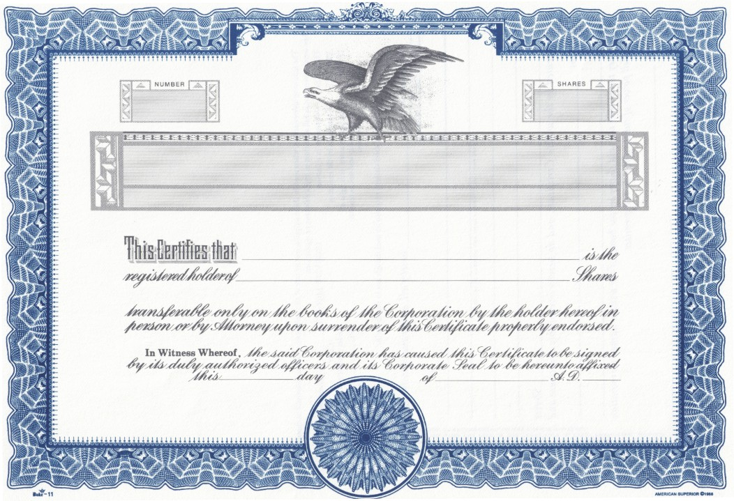 Image result for stock certificate