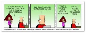 DILBERT © 2017 Scott Adams. Used By permission of ANDREWS MCMEEL SYNDICATION. All rights reserved.