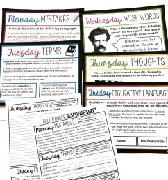7 Bell Ringer Ideas For Middle \u0026 High School English - Presto Plans [ 3024 x 3024 Pixel ]