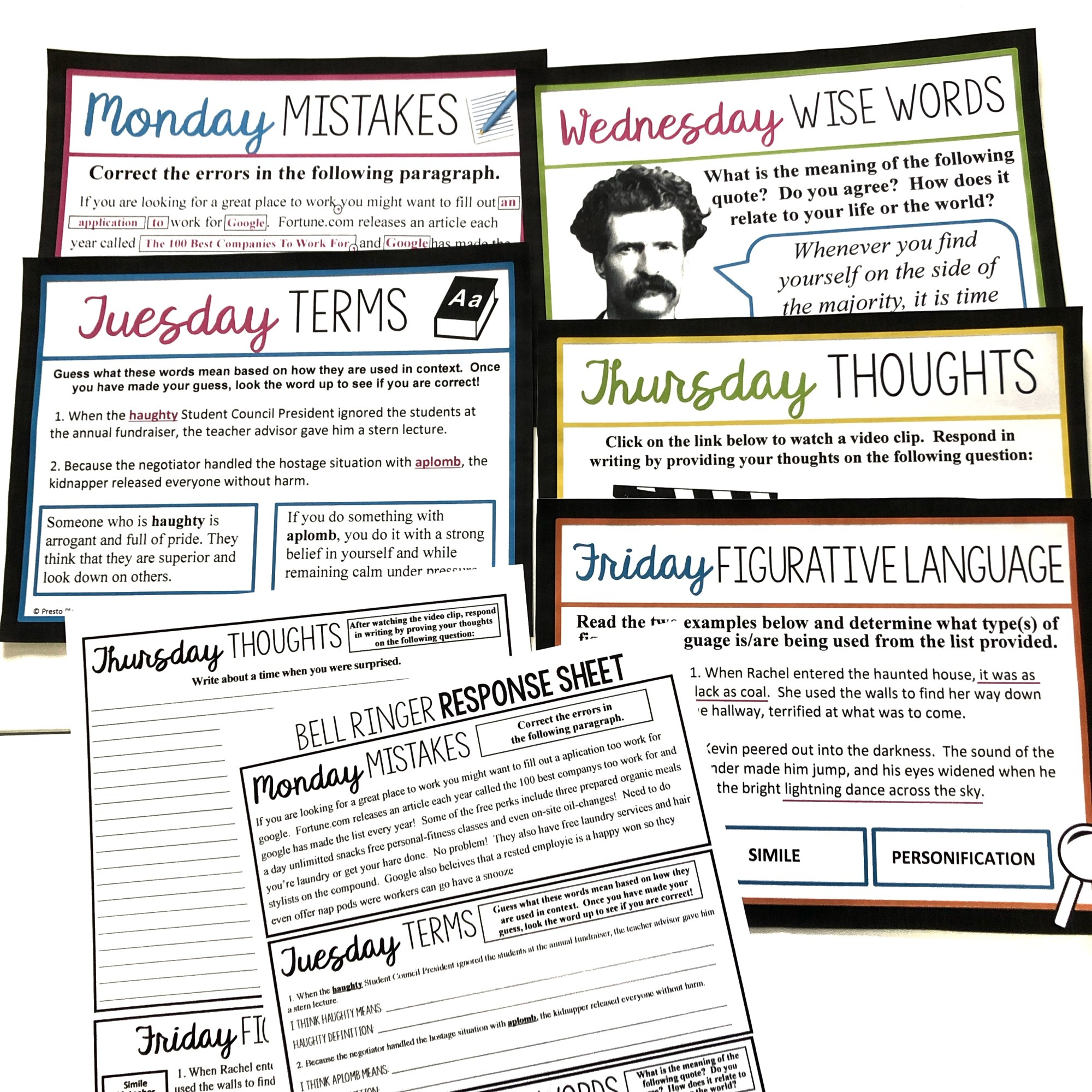hight resolution of 7 Bell Ringer Ideas For Middle \u0026 High School English - Presto Plans