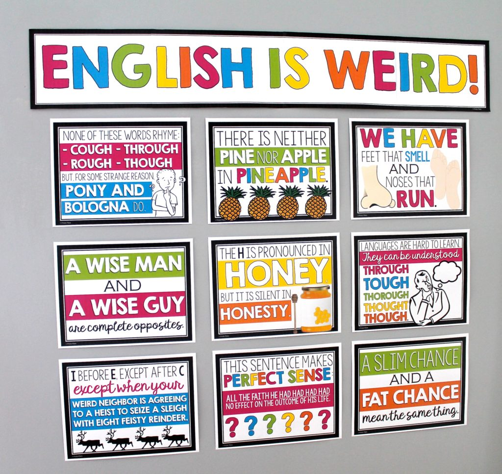 Bulletin Board Ideas For Middle Amp High School English