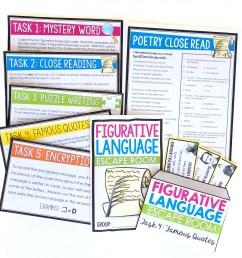 8 Creative Figurative Language Activities for Review - Presto Plans [ 2348 x 2349 Pixel ]