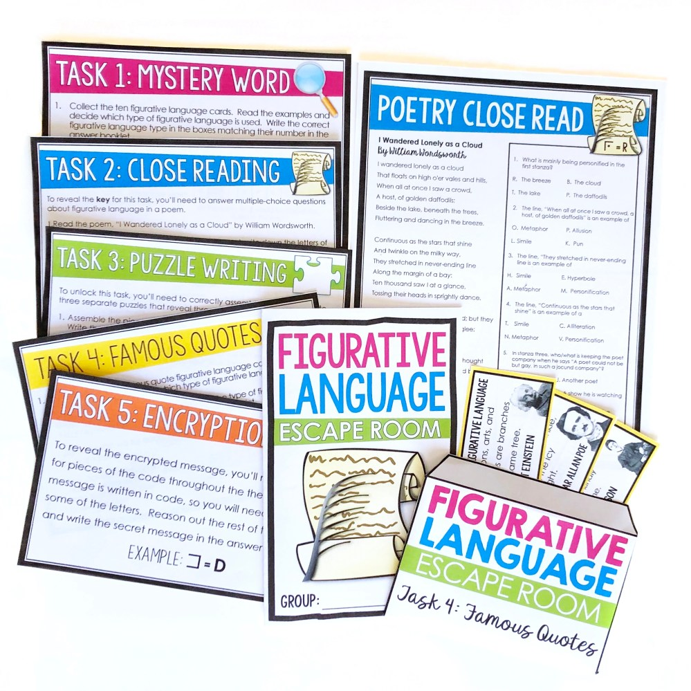 medium resolution of 8 Creative Figurative Language Activities for Review - Presto Plans